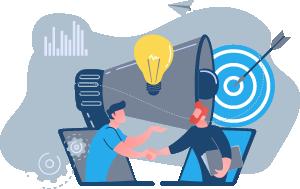 ilustrasi partnership & peningkatan bisnis